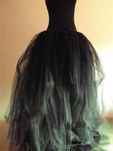 Vendita della fabbrica donne busto gonne tutti i colori multistrato lunga lunghezza 2015 tutu adulto gonna di tulle una linea plus size gonna per le donne spedizione gratuita