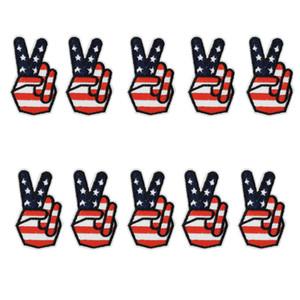10 PCS bandeira Da Vitória Emblema Patches Bordados para Sacos de Vestuário de Ferro em Transferência Applique Remendo para o Vestuário jaqueta DIY Costurar Emblema do bordado