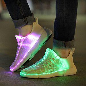 Zapatos zapatillas de deporte luminosa que brilla Light Up Zapatos para niños Blanco LED zapatillas de niños que destellan con la luz para Adultos
