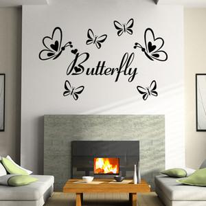 55 * 49 cm Ücretsiz kargo 3D Kelebek Duvar Çıkartmaları Kelebekler Docors Sanat / DIY Süslemeleri Kağıt sıcak satış 5 adet / grup
