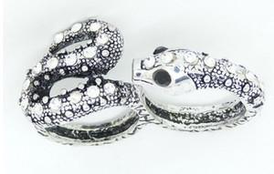 Min.order è $ 15 (ordine misto) -Europeo ed americano Retro Palace vendendo Snake Bicyclic Ring-J047