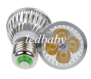 12W GU10 MR16 E27 GU5.3 B22 E14 Downlights LED Regulables Regulables Luces de focos Lámparas 4x3W Cálido / Frío / Blanco puro Envío gratuito
