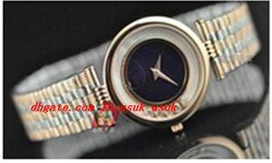 Reloj de pulsera de lujo Nuevo para mujer Happy Sport 5 Diamante flotante Reloj deportivo de cuarzo 18 quilates de oro rosa / acero inoxidable Relojes de pulsera para mujeres