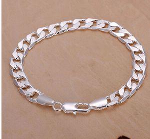 Bracelet 925 silver bracelet 925 silver fashion jewelry bracelet for men jewelry wholesale free shipping 10pcs