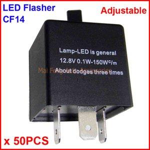 50 ADET CF14-KT LED Flaşör Ayarlanabilir Renk 3 Pin Elektronik Röle Modülü Fix Oto LED Dönüş Sinyali Hata Yanıp Sönen Yanıp Sönen 12 V 0.02A 20A
