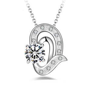 Free shipping fashion high quality 925 silver Angel Tears White diamond jewelry 925 silver necklace Valentine's Day holiday gifts hot 1664