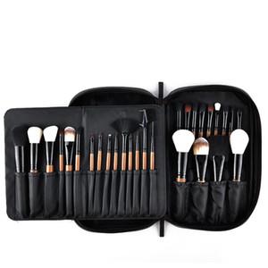 28pcs pinceaux de maquillage Set Pro poudre poudre fard à joues fondation ombre à paupières maquillage pinceaux cosmétiques Kit de brosse avec étui en cuir Pu