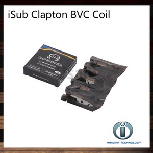 Innokin iTaste iSub Ni200 Bobines 0.1ohm 0.2ohm Tête de bobine de TC iSub BVC Clapton Bobines 0.5ohm Pour iSub S Tank 100% Original