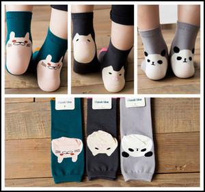 Prettybaby crianças 3D meias Adulto mulheres meninas dos desenhos animados panda porco gato perna aquecedores de algodão de animais de baixo corte ped sock infantil sox Pt0078 #