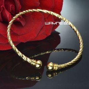 G122 ouro 18k GF filagree grega mulheres senhoras sólida pulseira de design pulseira