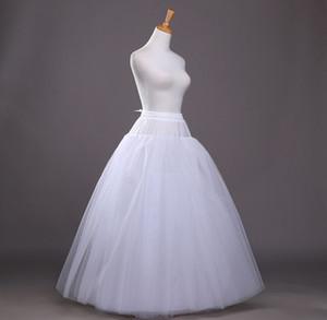 الجملة الساخنة إكسسوارات الزفاف الزفاف أربع طبقات الراقية فستان الزفاف بدون عظم غزل صافي ثوب نسائي
