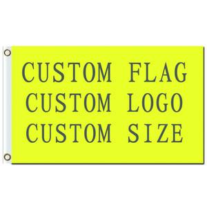 두 황동 밧줄 고리로 무료 배송 도매 디지털 인쇄 단일 층 폴리 에스터 사용자 정의 디자인 플래그 3x5ft