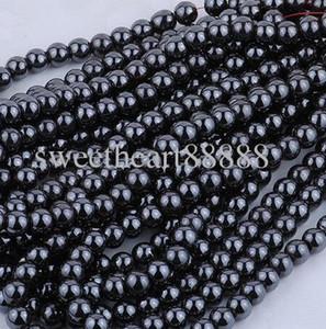 Micro neuf 8mm 200pc noir naturel jet hématite gemelle pierre précieuse rond balette découverte de perles de perles bijoux bricolage