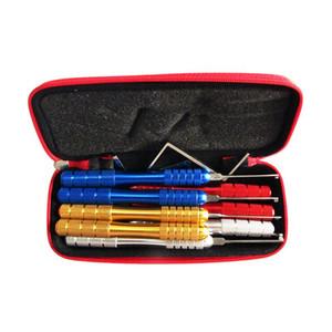 고품질 HUK 자물쇠 제조공 도구 알루미늄 합금 Kaba 8pcs 자물쇠 선택 세트 자물쇠 빠른 따개