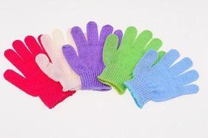2016 Factory Price Exfoliating Glove Skin Body Bath Shower Loofah Sponge Mitt Scrub Massage Spa