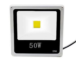 얇은 50W 반사체 LED 옥외 방수 IP66 투광 램프 AC 85-265V 백색 온난 한 백색 벽 세탁 램프 질 밝은 조경 점화
