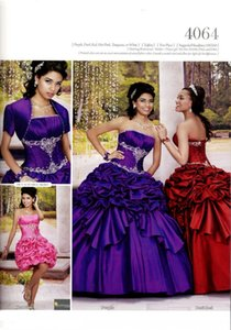 Gonna staccabile Ball Gown senza spalline Multi colore lungo 16 anni Girls'Quinceanera Dress con giacca manica corta Cheap Prom Pageant Dress