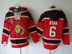 Высочайшее Качество ! Ottawa Senators Old Time Hockey Jerseys 6 Bobby Ryan Red Hoodie Пуловер Спортивные Толстовки Зимняя Куртка