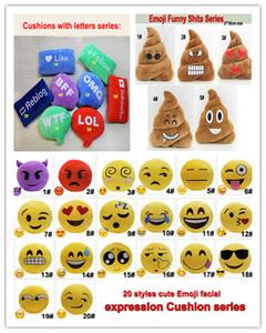 33 Estilos Almofadas Emoji Bonito Dos Desenhos Animados Travesseiros Expressão Facial Almofada travesseiro Merda Engraçada e adorável carta almofadas de Brinquedo De Pelúcia Recheado