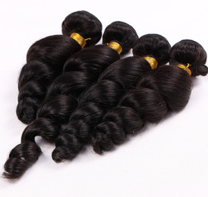 Special Hair Malaysian Virgin Loose Wave Brazilian Remy 12-26 inch Peruvian Human Hair 4 Bundles Hair Extensions