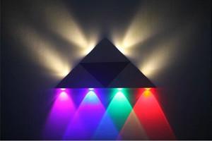 AC110-220V Alta qualità 3W 4W 5W 8W Lampade da parete Casa Camera Bar Angolo KTV Rosso Verde Blu Viola Lampada LED