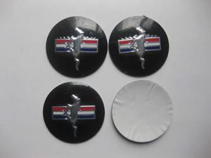 4 قطع 55 ملليمتر مركز العجلة قبعات قبعات تشغيل الحصان شعار شارة ملصق ل موستانج