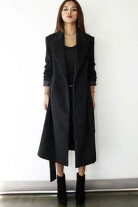 Bayan Kış Moda Uzun Yün Karışımı Ceket Kalın Ceket Sıcak Parka Palto Retro Yün Blend Slim Fit Sıcak Windbreak Parka