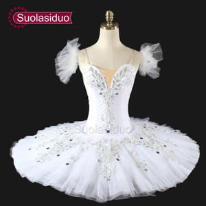 Mujeres Cascanueces Tutu Ballet Profesional Tutu Swan Lake Blanco Clásico Ballet Tutu Para Niñas Panqueque SD0007
