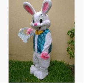 Haute qualité vendre comme Hot Cakes Professional Easter Bunny Mascot costume Bugs Lapin Lièvre Adulte