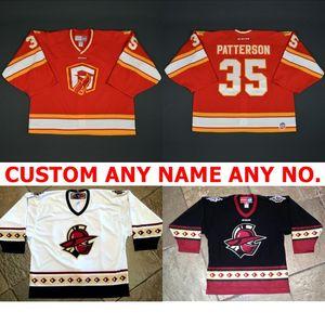 Оптовое 2017 новое Настроить ECHL Atlanta Gladiators Мужские женские дети 100% Вышивка Лучшее качество Дешевые хоккейные Jerseys Goalit Cut Hot sale