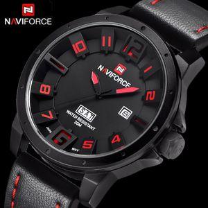 NAVIFORCE Luxury Top Brand Military Watches Men Quartz Analog Leather Clock Man Sports Watches Army Waterproof Wrist Watch