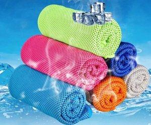 Verão Duplo camadas de gelo Toalha muitas cores Utility Enduring instantâneo Toalha de resfriamento térmico de alívio reutilizável frio toalha fria