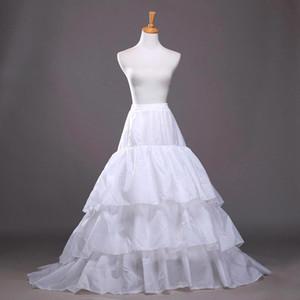 높은 품질 2019 새로운 라인 플러스 크기 Crinoline 신부 3 후프 Petticoats 웨딩 드레스 웨딩 치마 액세서리 기차 CPA207 미끄러 져