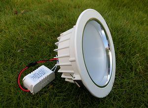 MOQ100 7W dimmerabile 110V 220V Non-dimmable 85-265V LED Downlights 5 pollici soffitto giù Lampadine incasso Lampada WW CW 2 anni di garanzia