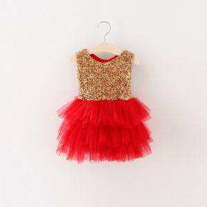 Newest Girls Sequins bow tutu dresses 2016 Kids girls spring summer beautiful party dress baby princess tutu dress 5pcs lot