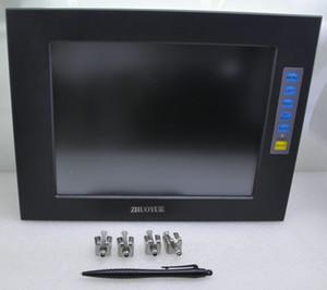 12 polegada 4: 3 1024 * 768 caixa de liga de alumínio moldura aberta monitor de tela de toque para a máquina à prova d 'água monitor de poeira