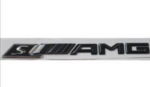 Gloss Black S _ /// AMG Letters Trunk Emblem Badge Sticker para Mercedes Benz S AMG