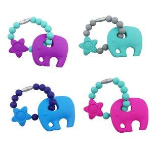 Dentition silicone jouet éléphant boucle bracelet perles colliers