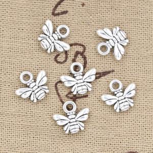 300pcs Charms abeille 10 * 11mm Antique, pendentif en alliage de zinc en forme, Vintage argent tibétain, bricolage pour collier bracelet