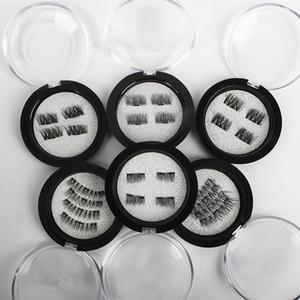 4 개 / 대 자기 눈 속눈썹 3D 밍크 속눈썹 거짓 자석 속눈썹 확장 3d 속눈썹 확장 자기 속눈썹 눈 메이크업