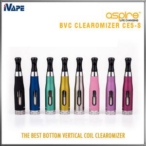 Aspire CE5-S BVC Clearomizer 100% подлинный Aspire CE5S BVC BDC E Электронная сигарета Распылители eGo 1.8 мл Испаритель CE5S с BVC BDC Катушками