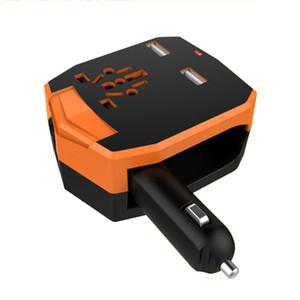 Adaptador de Viagem universal Carregador de Carro Dual USB Plugue de Conversão Multifuncional Power Plug Adapter Soquete Conversor Carregador de Telefone Móvel