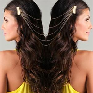 Bohême Drapé Cheveux Peignes Tassel Chaînes Bandeau Head Wrap Coiffure De Mariée De Cheveux De Mariage Diadèmes Accessoires De Cheveux