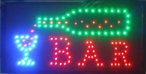 En gros Led Bar Au Néon Bar À Bière Pub Signer De Boire lumières En Plastique PVC cadre Affiche Taille De Signe Publicitaire 10 * 19 pouce