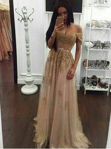 Goldsequin Abendkleid Lange a-line Schatz Sleeveless bodenlangen Abendkleider Partei robe de Soiree PD1128