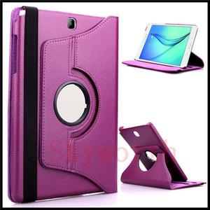 삼성 Galaxy Tab 4 용 360 회전 가죽 케이스 S4 A E T280 T560 7 8 10.5 T580 T590 T830 T810 T820
