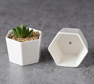100 adet seramik bonsai tencere toptan mini beyaz porselen saksılar etli succulent kapalı ev için Fidanlık yetiştiricilerinin tedarikçiler