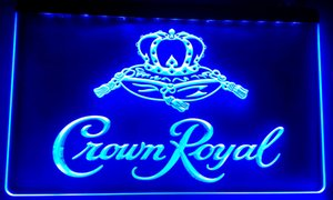 LS018 Crown Royal Derby whisky NR birra Bar luce al neon LED segno
