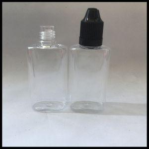 Бутылка любимчика 30ml жидкостной бутылки E плоская с крышкой Childproof и иглой наклоняет бутылку Ejuice капельницы пластичную