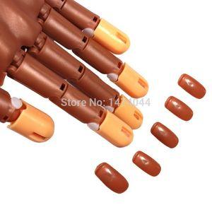 Toptan Satış - Toptan-100 Adet / Set Sahte El Uygulaması Kullanım Tırnak Eğitim El İçin Yanlış Nails Dolum Salon Ev Uygulama Sahte Tamir İpuçları